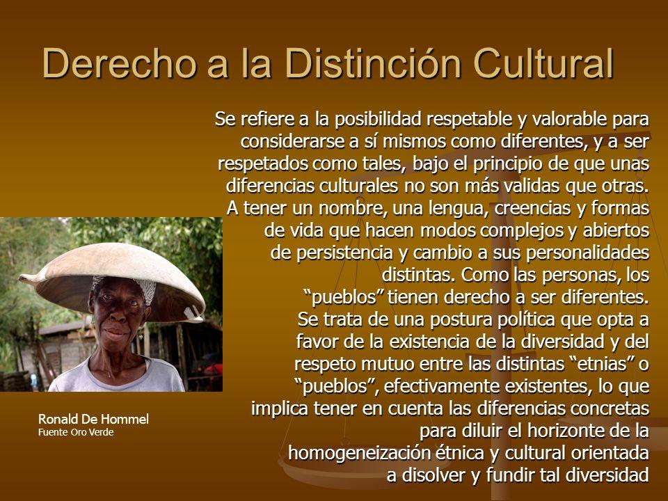 Derecho a la Distinción Cultural