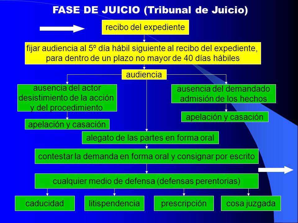 FASE DE JUICIO (Tribunal de Juicio)