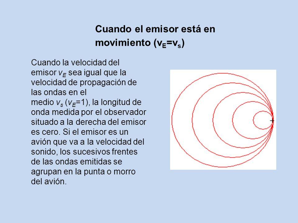 Cuando el emisor está en movimiento (vE=vs)