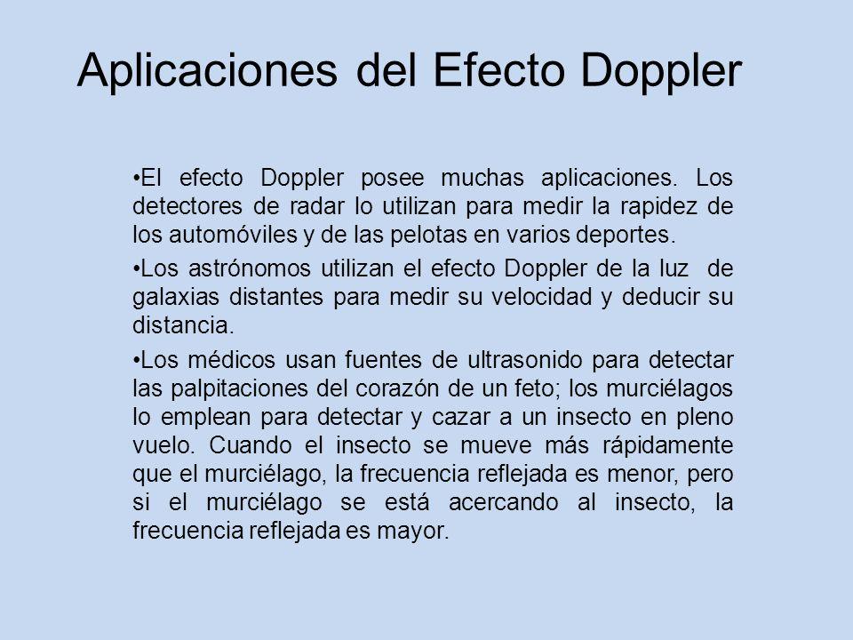 Aplicaciones del Efecto Doppler