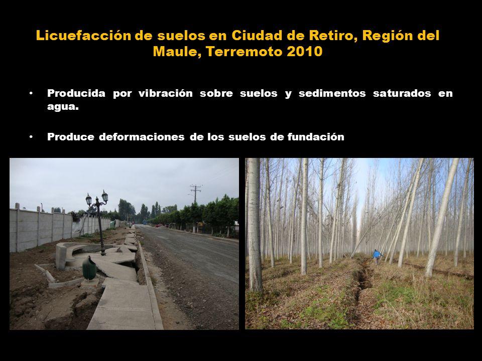 Licuefacción de suelos en Ciudad de Retiro, Región del Maule, Terremoto 2010