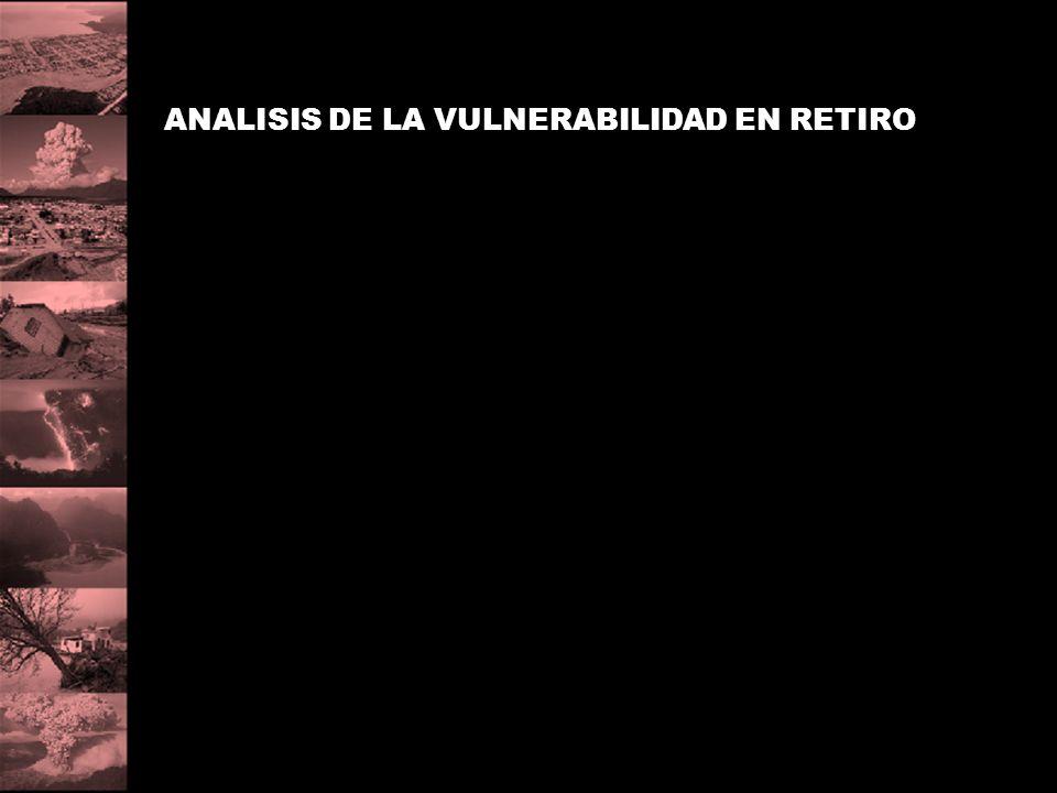 ANALISIS DE LA VULNERABILIDAD EN RETIRO