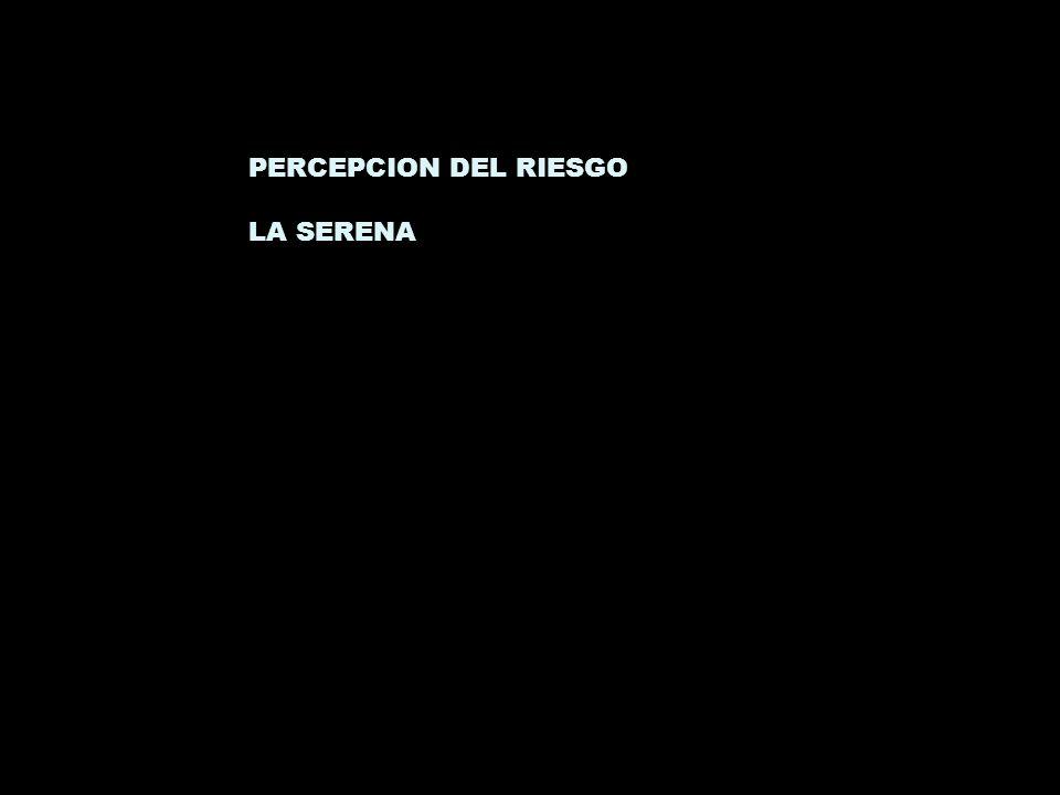 PERCEPCION DEL RIESGO LA SERENA