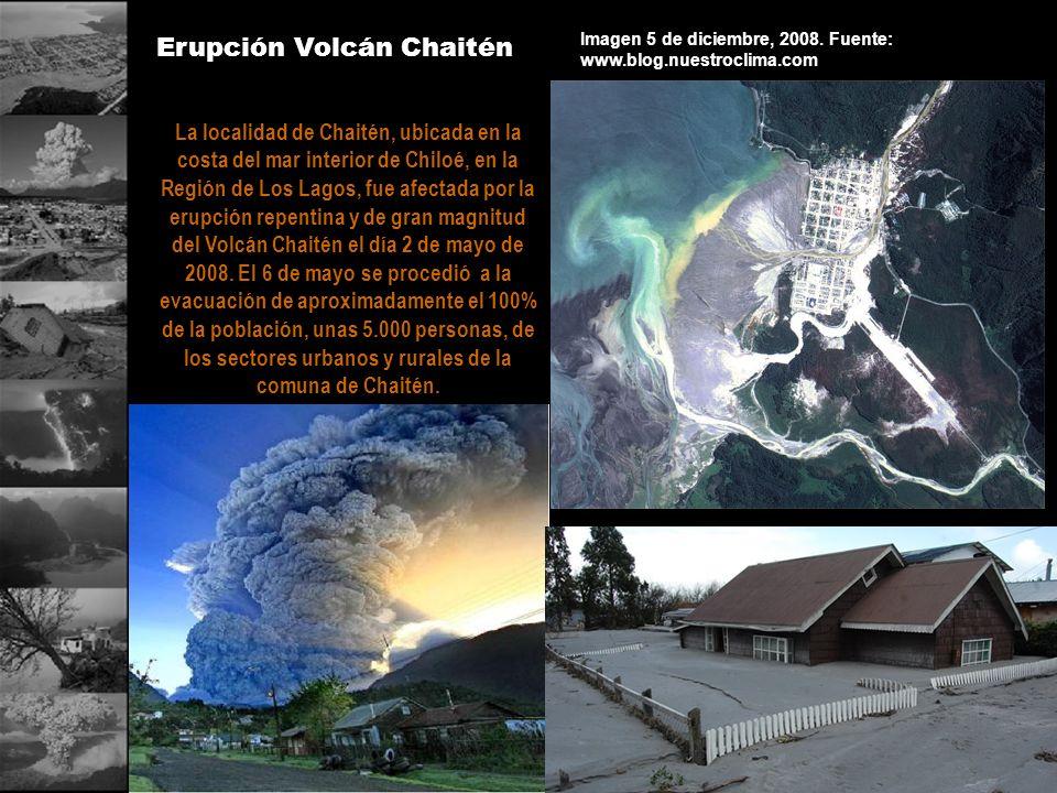 Erupción Volcán Chaitén