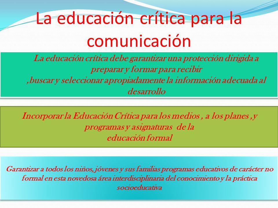 La educación crítica para la comunicación