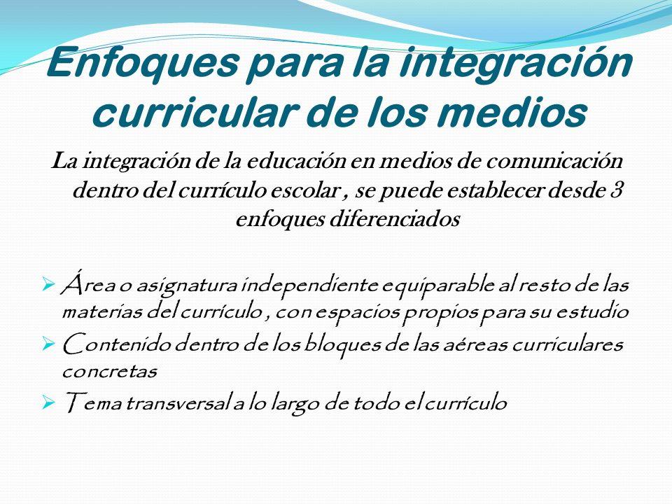 Enfoques para la integración curricular de los medios