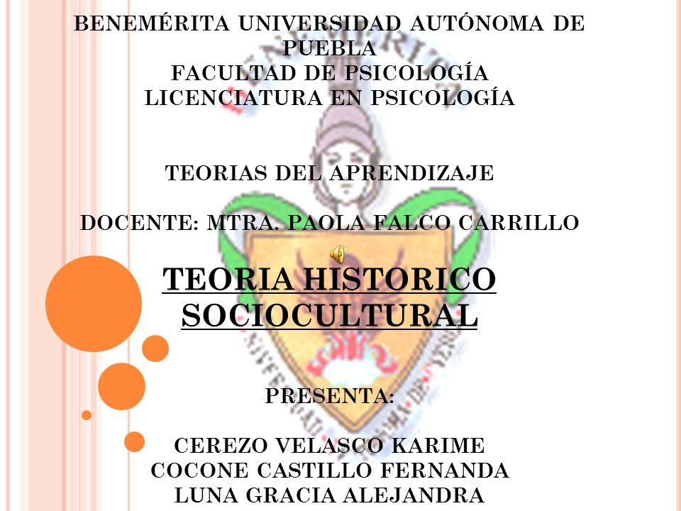 BENEMÉRITA UNIVERSIDAD AUTÓNOMA DE PUEBLA FACULTAD DE PSICOLOGÍA LICENCIATURA EN PSICOLOGÍA TEORIAS DEL APRENDIZAJE DOCENTE: MTRA.