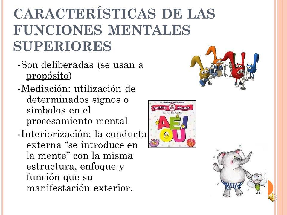 CARACTERÍSTICAS DE LAS FUNCIONES MENTALES SUPERIORES