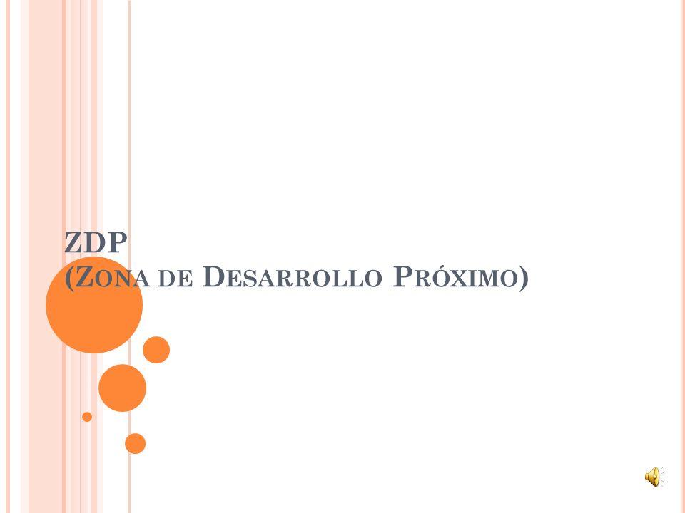 ZDP (Zona de Desarrollo Próximo)