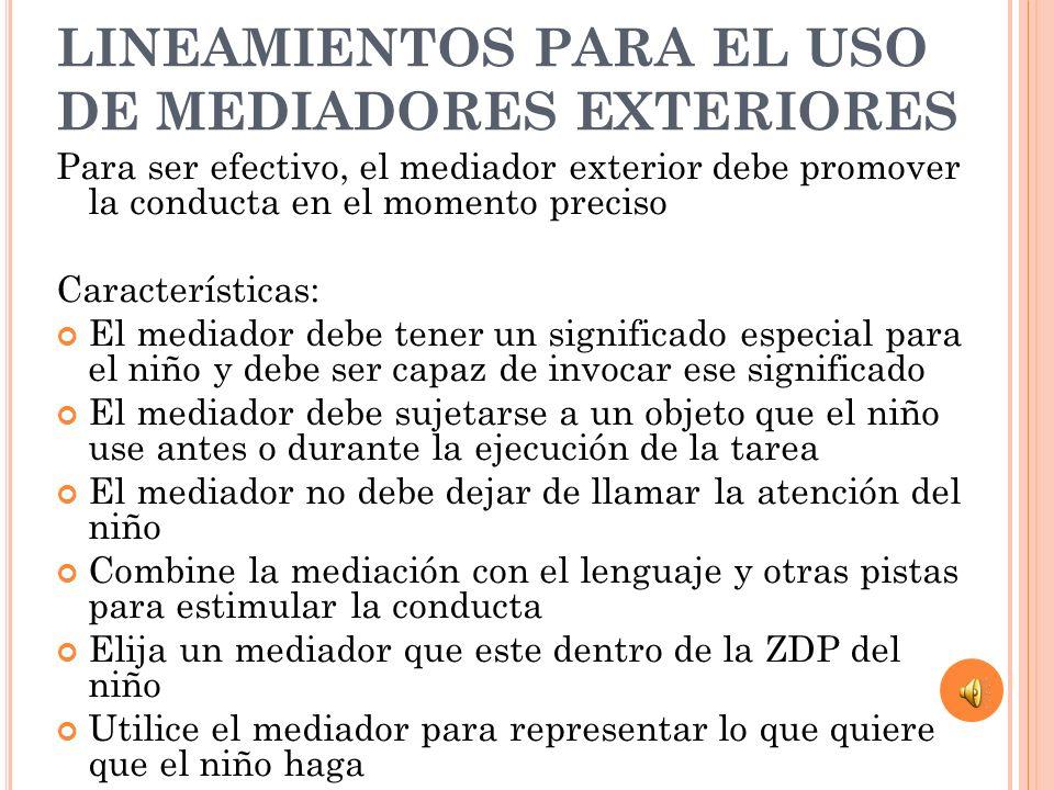 LINEAMIENTOS PARA EL USO DE MEDIADORES EXTERIORES