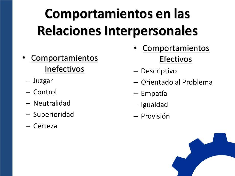 Comportamientos en las Relaciones Interpersonales