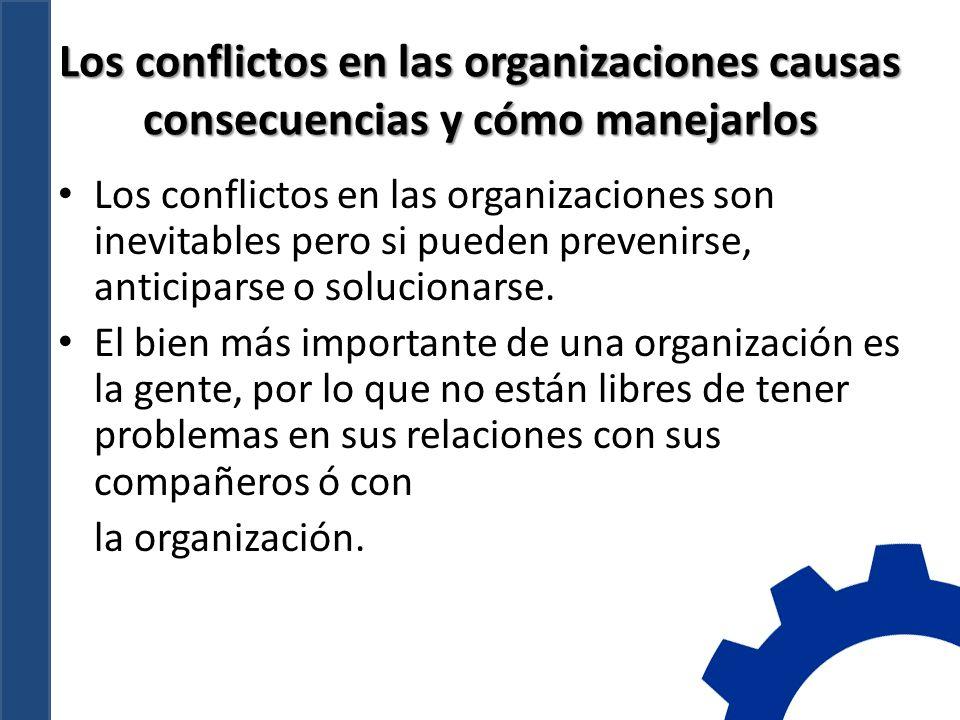 Los conflictos en las organizaciones causas consecuencias y cómo manejarlos