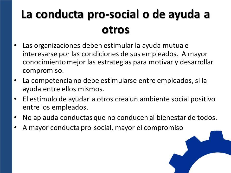 La conducta pro-social o de ayuda a otros