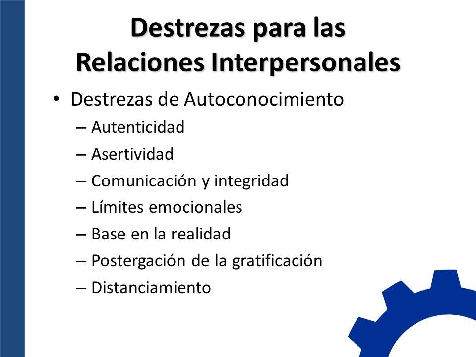 Destrezas para las Relaciones Interpersonales