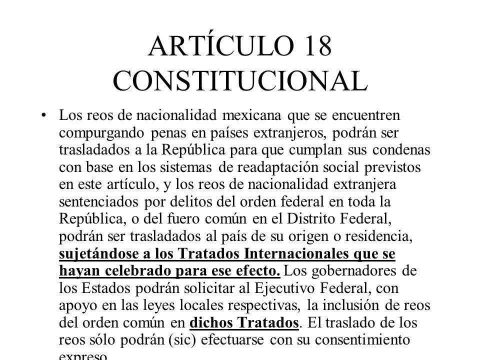 ARTÍCULO 18 CONSTITUCIONAL