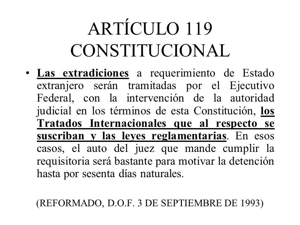ARTÍCULO 119 CONSTITUCIONAL