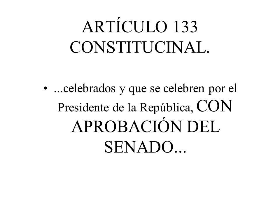 ARTÍCULO 133 CONSTITUCINAL.