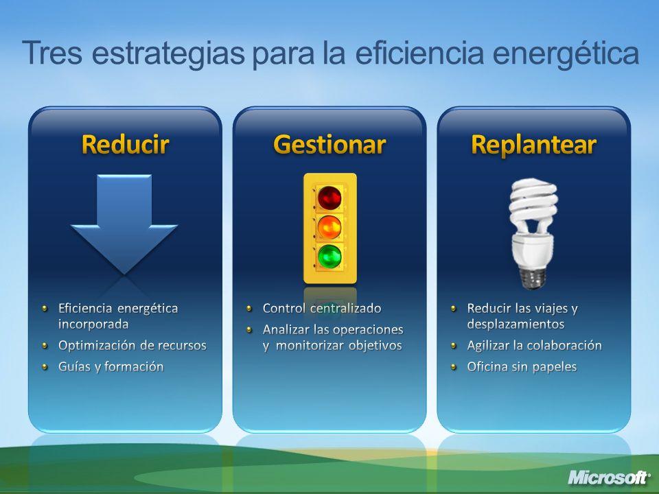 Tres estrategias para la eficiencia energética