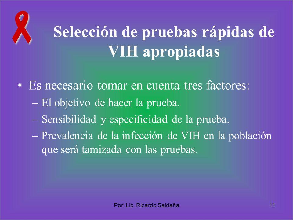Selección de pruebas rápidas de VIH apropiadas