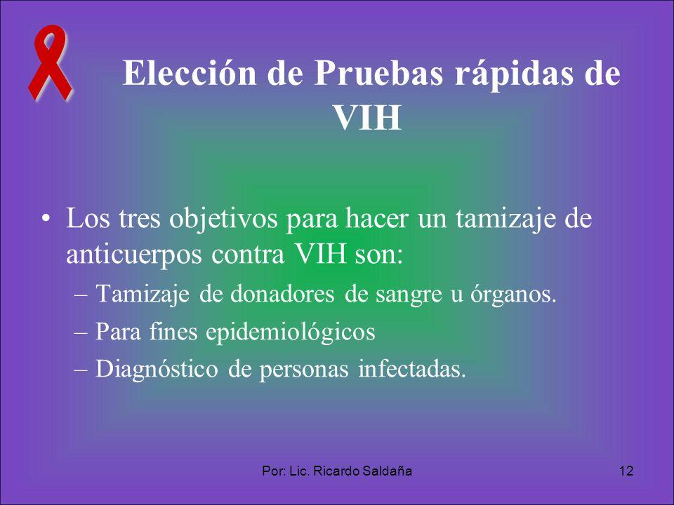 Elección de Pruebas rápidas de VIH