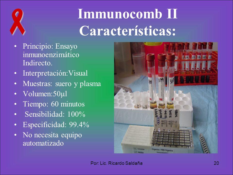 Immunocomb II Características: