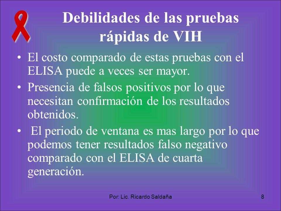 Debilidades de las pruebas rápidas de VIH