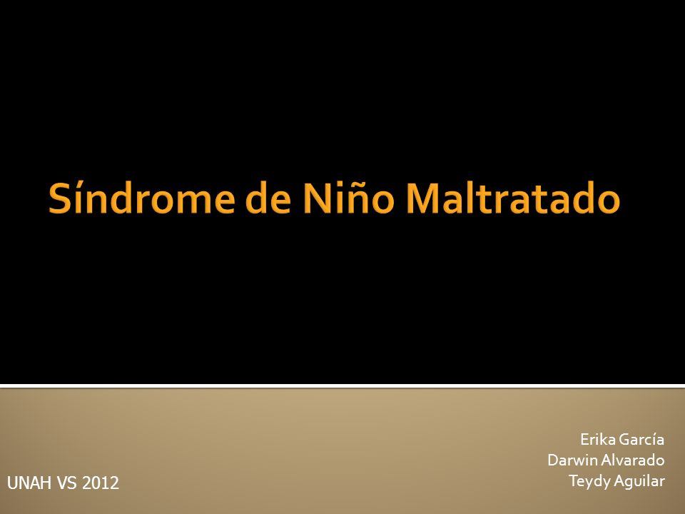 Síndrome de Niño Maltratado