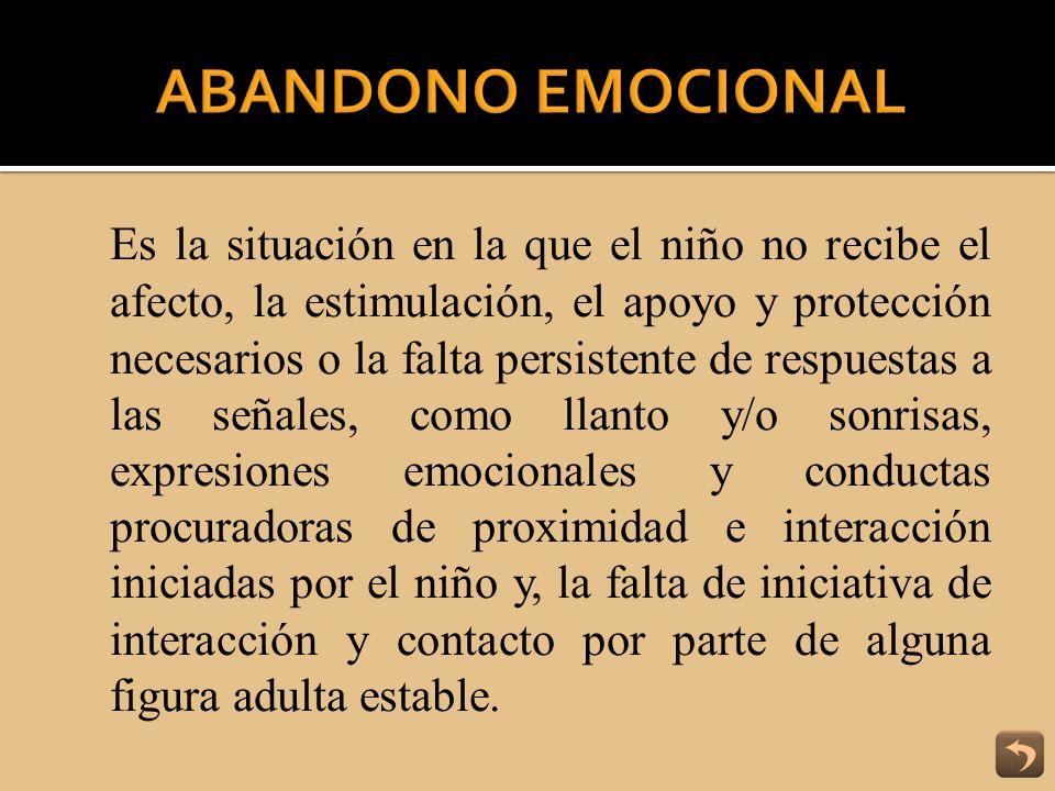 ABANDONO EMOCIONAL