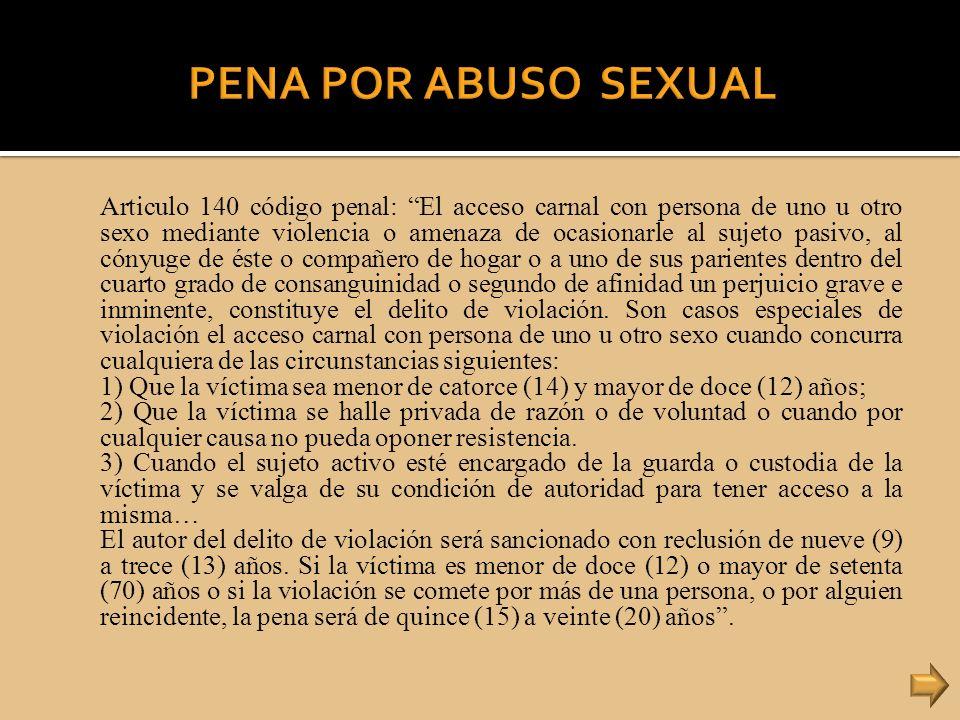 PENA POR ABUSO SEXUAL