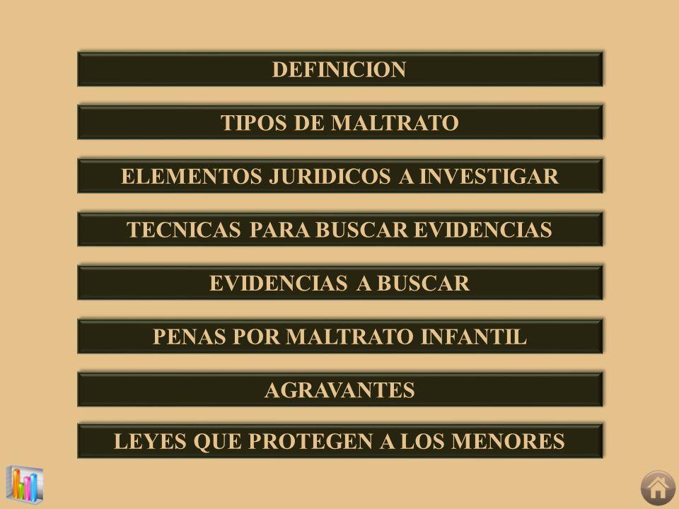 ELEMENTOS JURIDICOS A INVESTIGAR