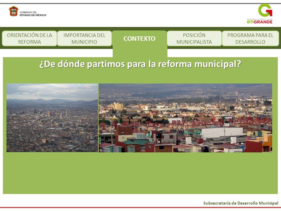 ¿De dónde partimos para la reforma municipal