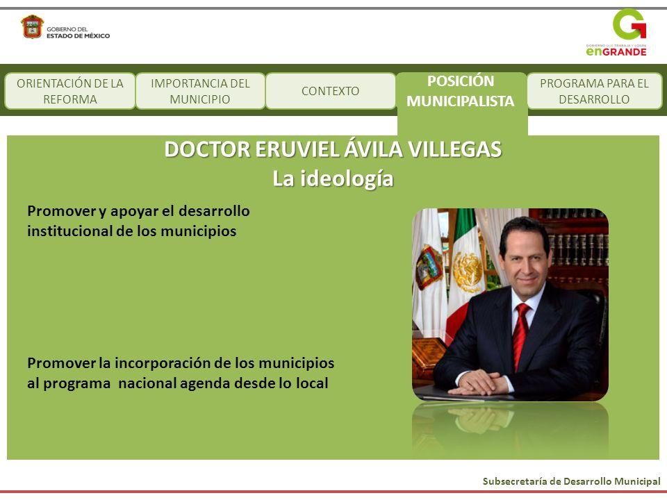 POSICIÓN MUNICIPALISTA DOCTOR ERUVIEL ÁVILA VILLEGAS