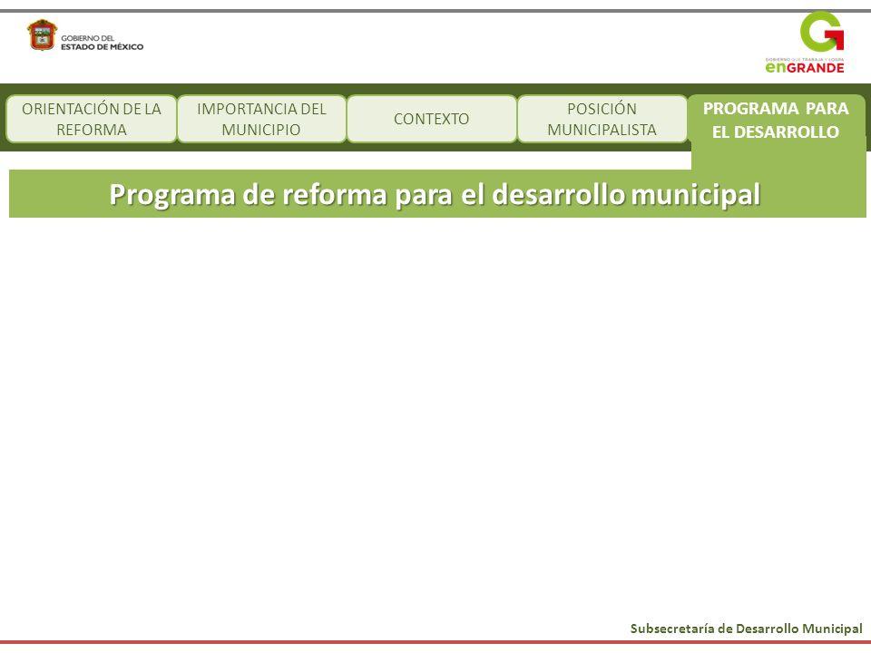 Programa de reforma para el desarrollo municipal