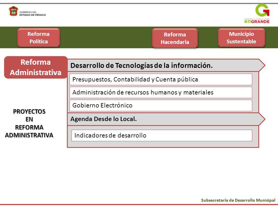 Municipio Sustentable Reforma Administrativa