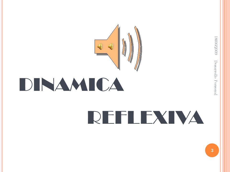 DINAMICA REFLEXIVA Desarrollo Personal 18/06/2009 18/06/2009