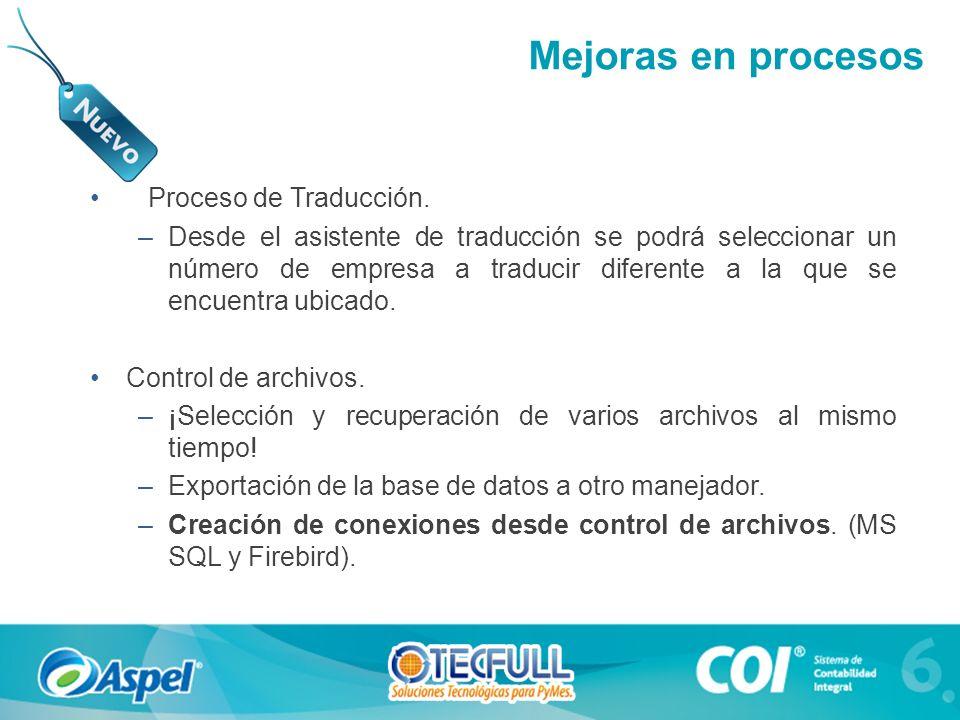 Mejoras en procesos Proceso de Traducción.