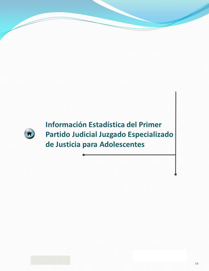 Información Estadística del Primer Partido Judicial Juzgado Especializado de Justicia para Adolescentes