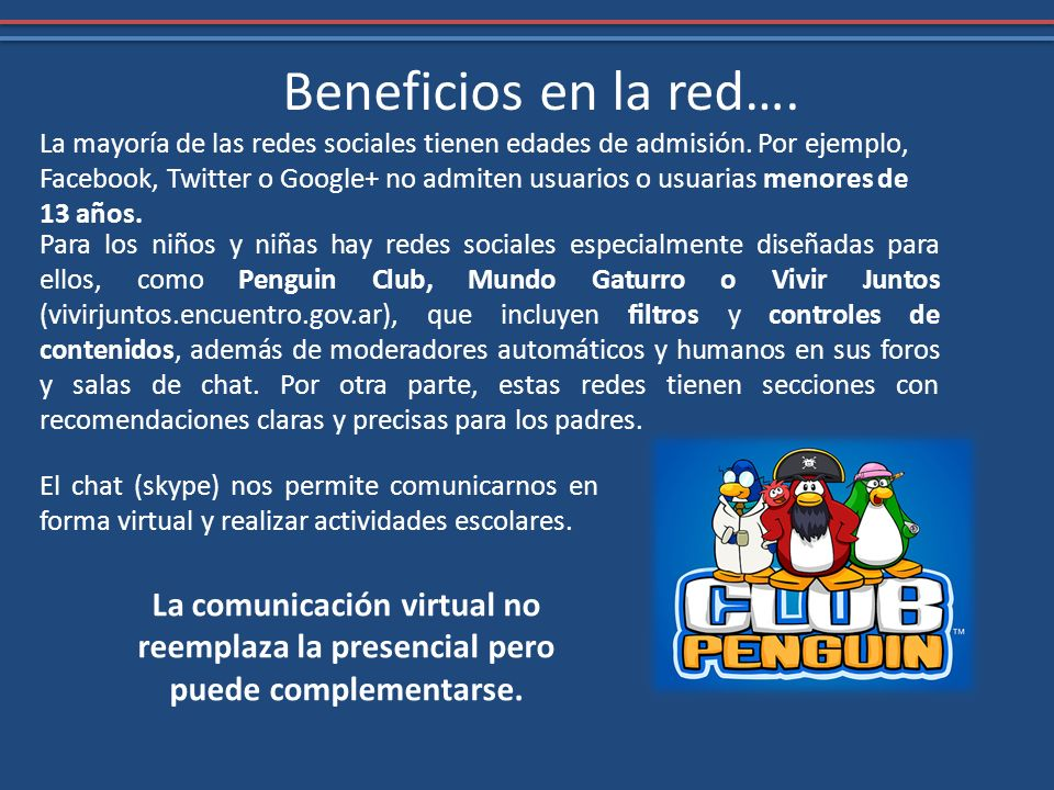 Beneficios en la red….