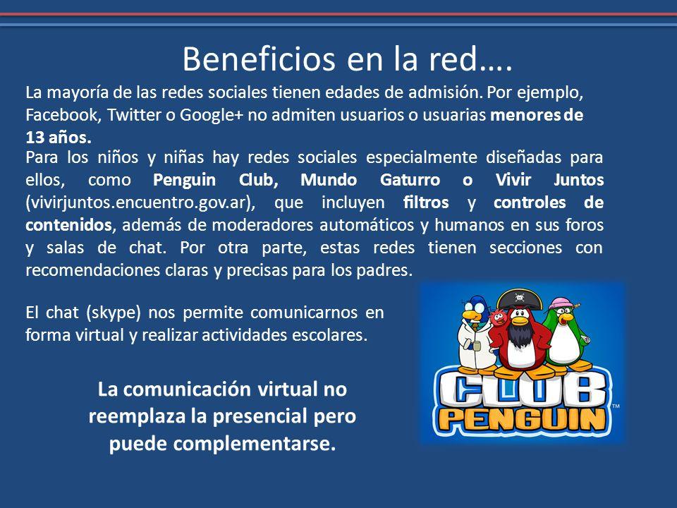 Beneficios en la red….