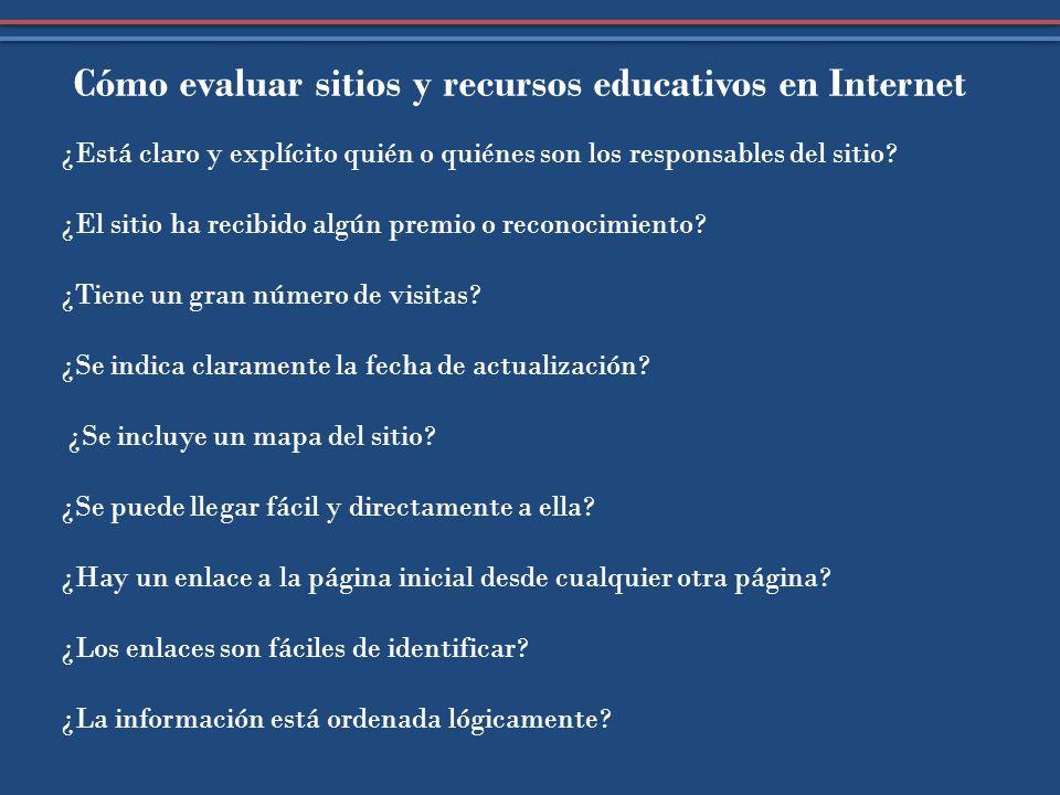 Cómo evaluar sitios y recursos educativos en Internet