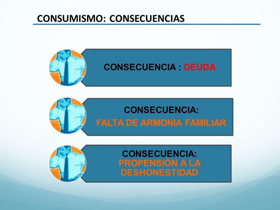 FALTA DE ARMONIA FAMILIAR CONSECUENCIA: PROPENSIÓN A LA DESHONESTIDAD