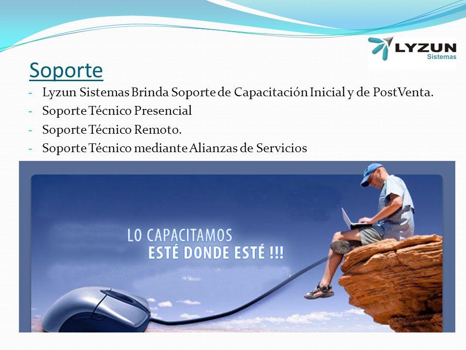 Soporte Lyzun Sistemas Brinda Soporte de Capacitación Inicial y de PostVenta. Soporte Técnico Presencial.