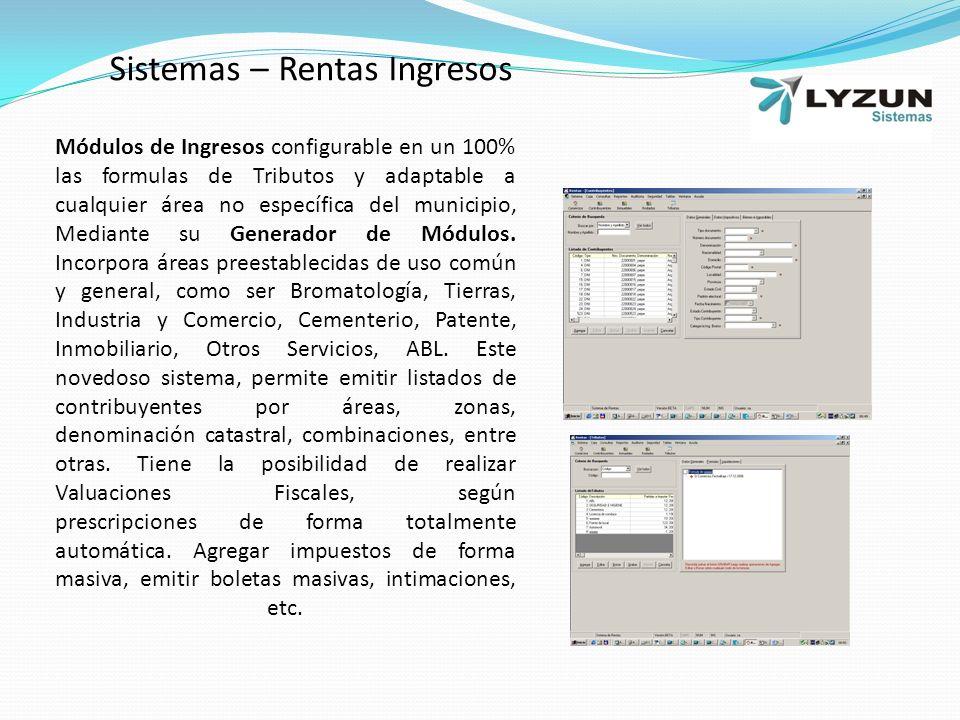 Sistemas – Rentas Ingresos