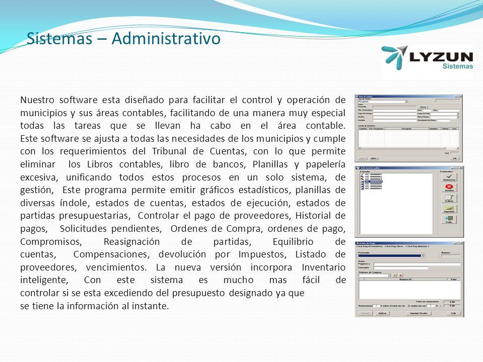 Sistemas – Administrativo