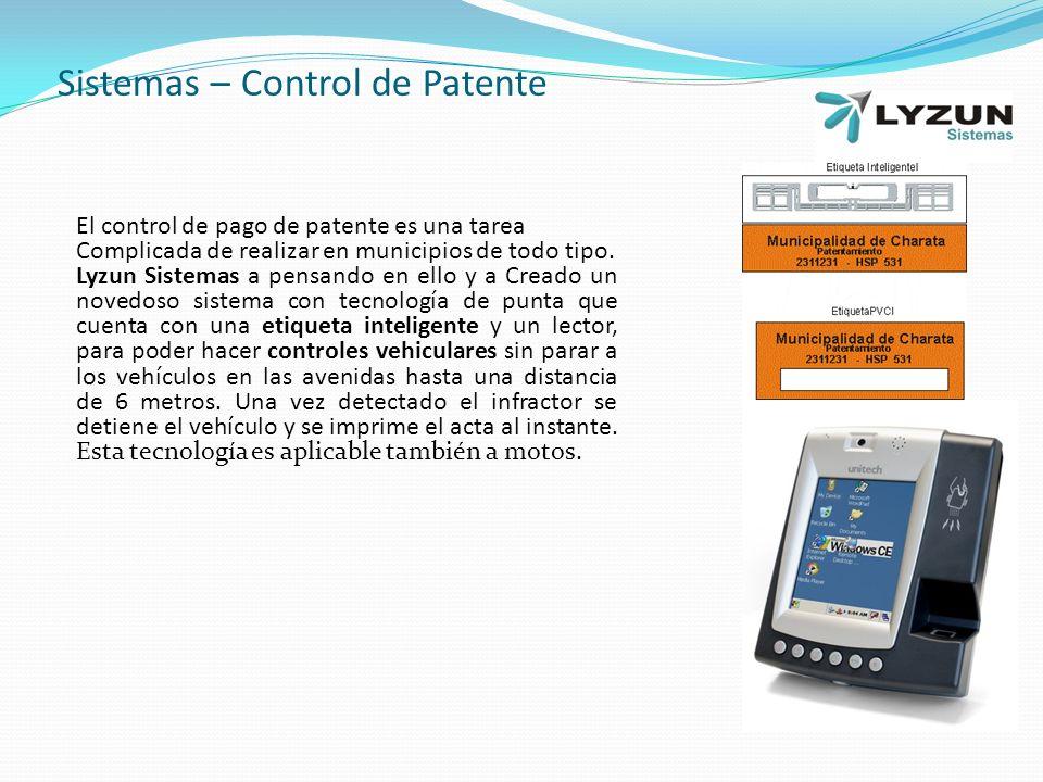 Sistemas – Control de Patente