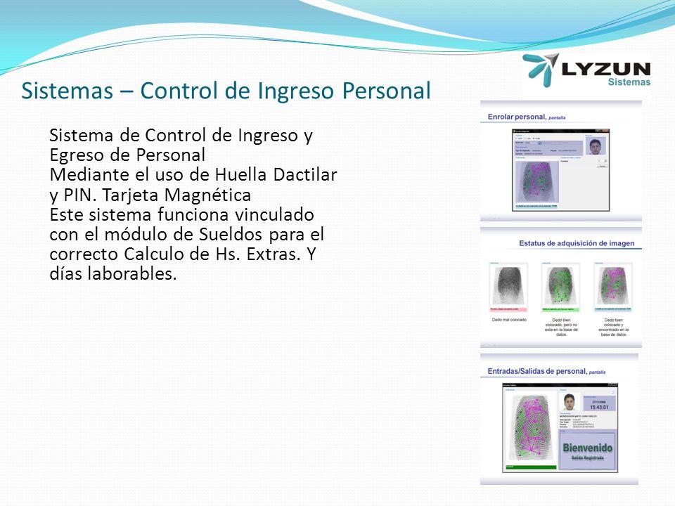Sistemas – Control de Ingreso Personal