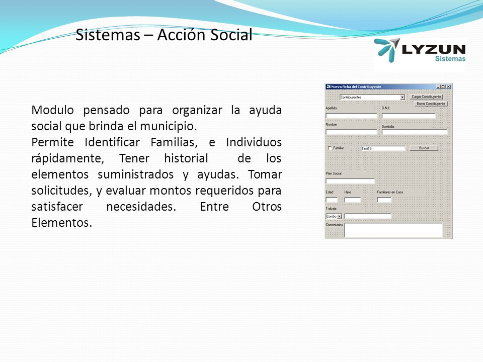 Sistemas – Acción Social