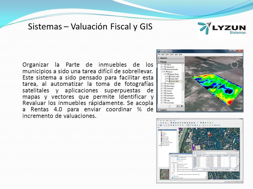 Sistemas – Valuación Fiscal y GIS