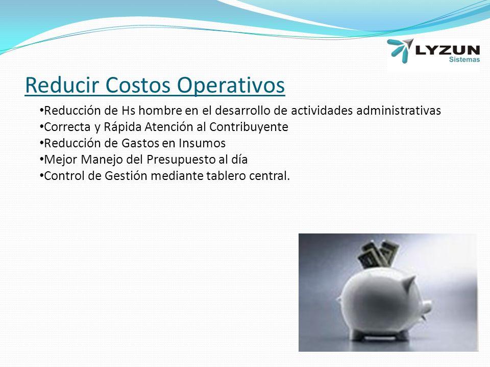 Reducir Costos Operativos