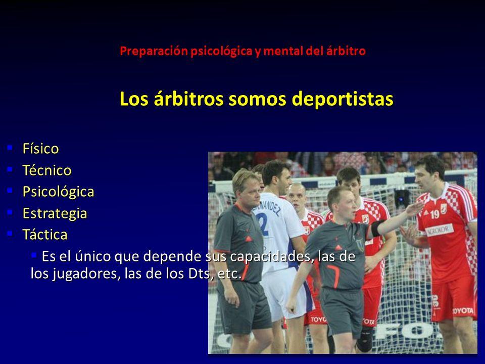 Los árbitros somos deportistas